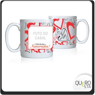 Caneca Namorados corações e foto  em São Paulo