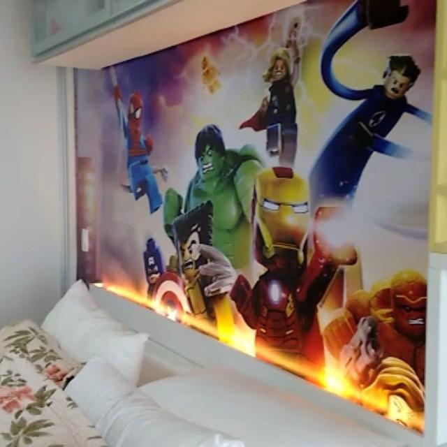 Aparador Tv ~ Adesivos de Parede 100 x 120 cm Vinil Brilhoso Impress u00e3o Colorida Gráfica expanSSiva