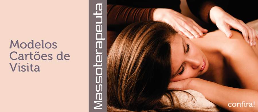 Cartões de Visita de Massoterapia