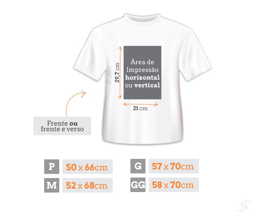 Padrão de Camisetas Personalizadas Tamanho Adulto Manga Curta