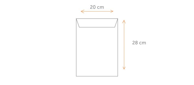 Envelope 20x28 cm