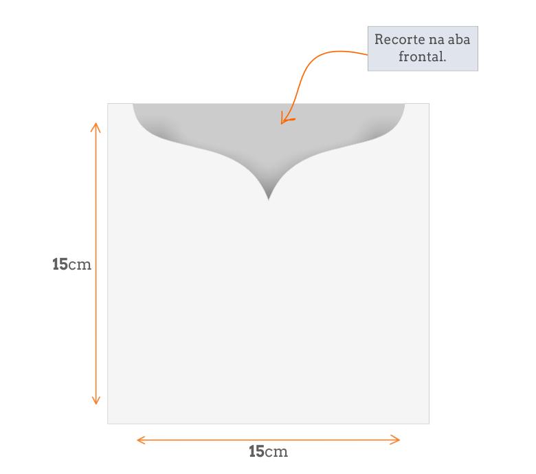 Padrão Envelope Especial 15x15 cm corte especial