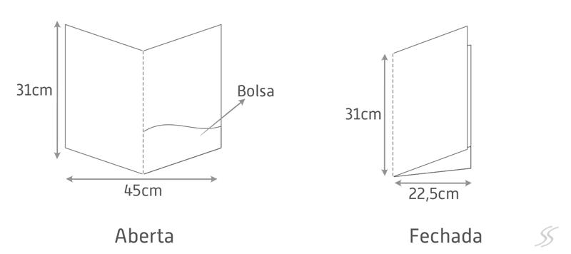 Exemplo de Pasta Personalizada com Bolsa