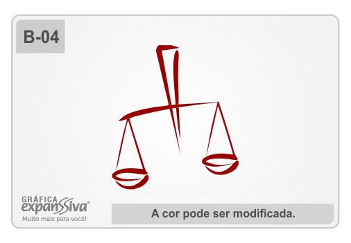 Balança Estilizada para advogados