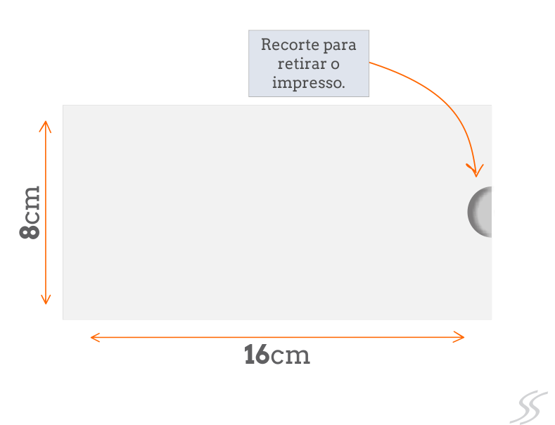 Padrão Envelope Luva 8x16 cm