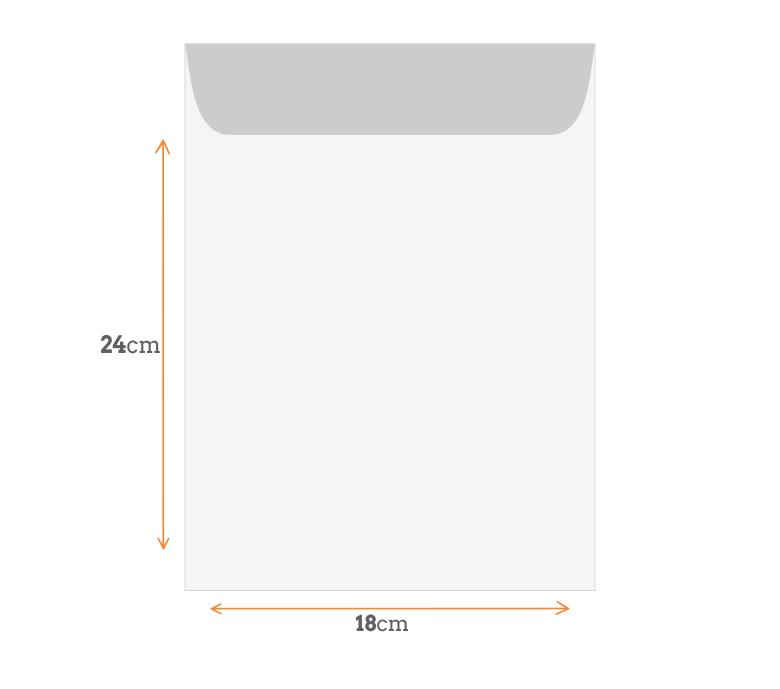 Padrão de Envelope 18x24 cm