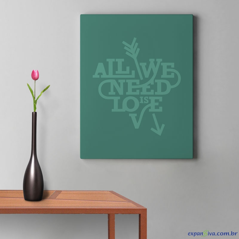 Quadro Verde All You Need Is Love