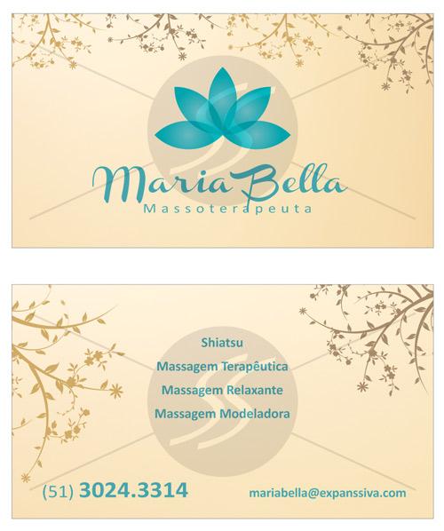 01 20 - Cartões de Visita para Massoterapeuta