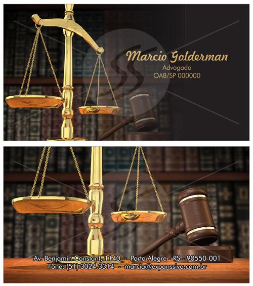 01 7 - Cartão de Visita para Advogados
