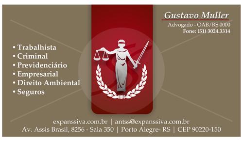 02 1677 - Cartão de Visita para Advogados