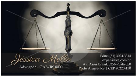 02 40 - Cartão de Visita para Advogados