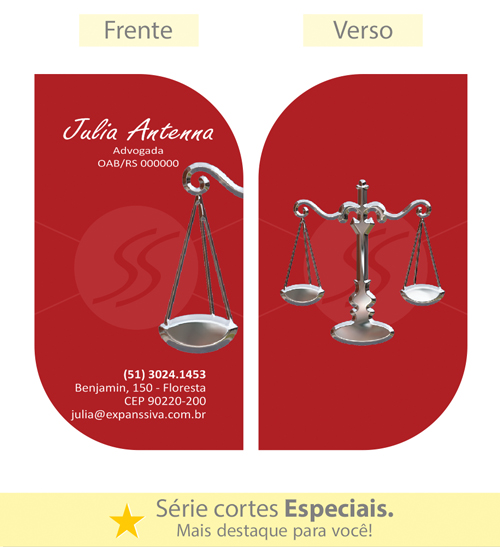 03 67 - Cartão de Visita para Advogados