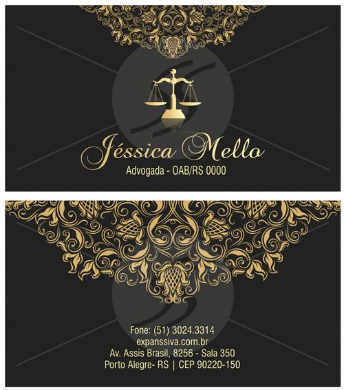 0474 - Cartão de Visita para Advogados