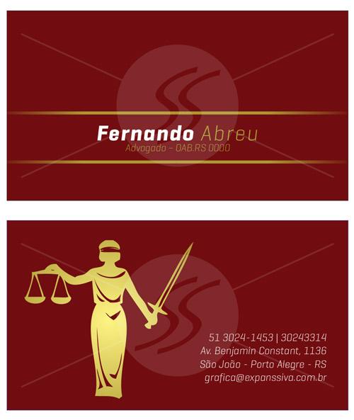 07 2 - Cartão de Visita para Advogados