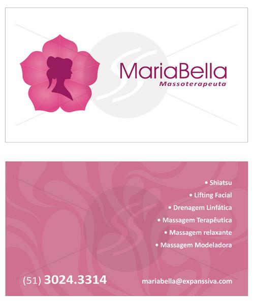 07 8 - Cartões de Visita para Massoterapeuta