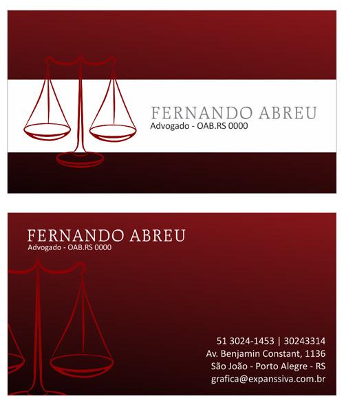 08 2 - Cartão de Visita para Advogados