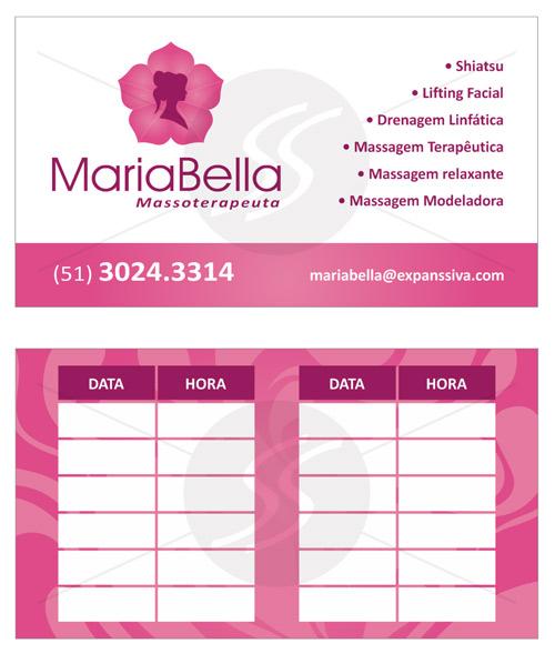Cartão Massoterapia