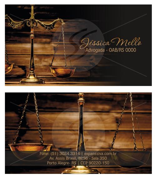 10 10 - Cartão de Visita para Advogados