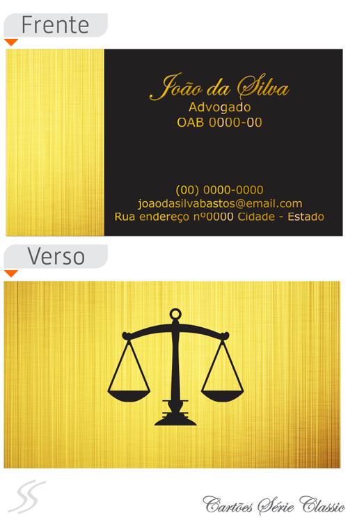10 cartao de advogado classic - Cartão de Visita para Advogados