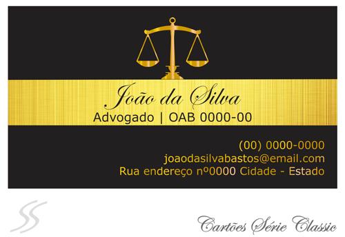 11 cartao de advogado classic - Cartão de Visita para Advogados