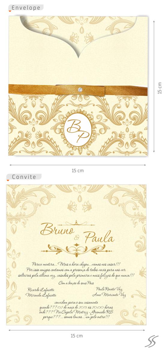 Convites Para Casamento M5461 Grafica Expanssiva