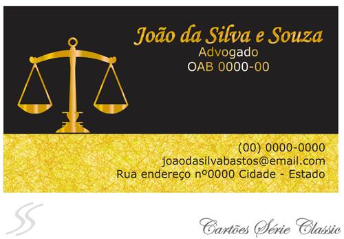 15 cartao de advogado classic - Cartão de Visita para Advogados