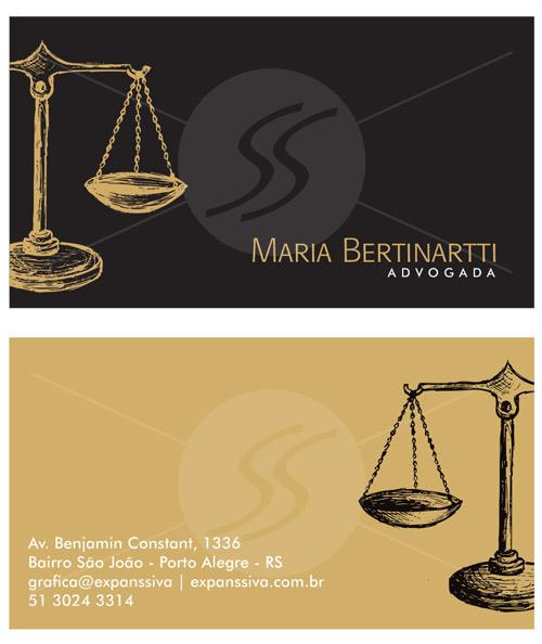 16 0 - Cartão de Visita para Advogados