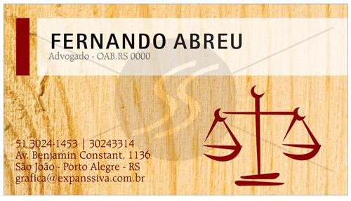 17 0 - Cartão de Visita para Advogados