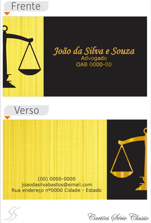 18 cartao de advogado classic - Cartão de Visita para Advogados