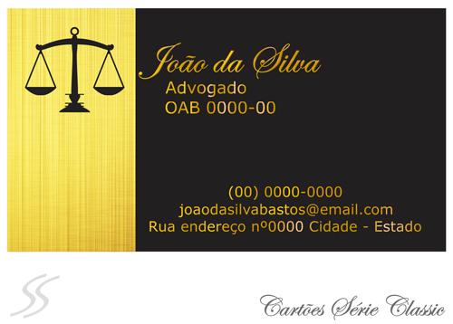 8 cartao de advogado classic - Cartão de Visita para Advogados