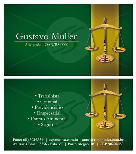 Cartao Advogado 05 Frente e verso 0 - Cartão de Visita para Advogados