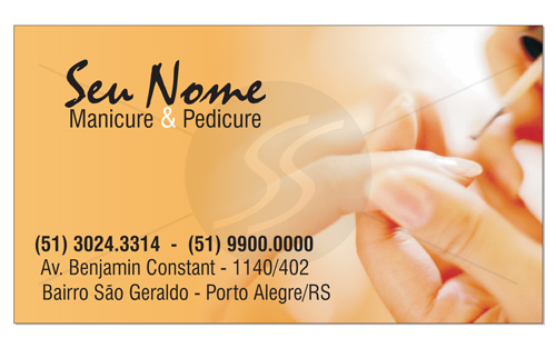 cartoes de visita manicure pedicure