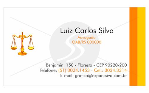 M1618 cartoes para advogados - Cartão de Visita para Advogados