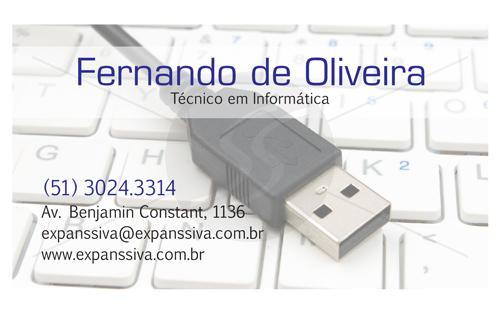 M1883 cartoes de visita informatica - Cartoes de Visita para Técnico em Informática
