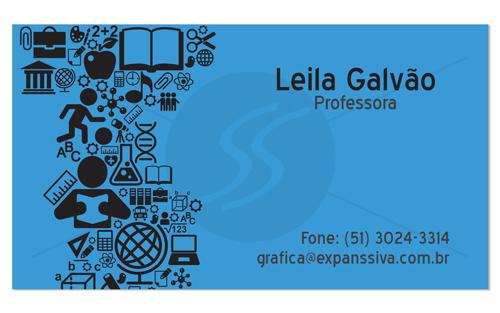 M1983 cartoes de visita professores - Cartões de Visita Criativos para Professores