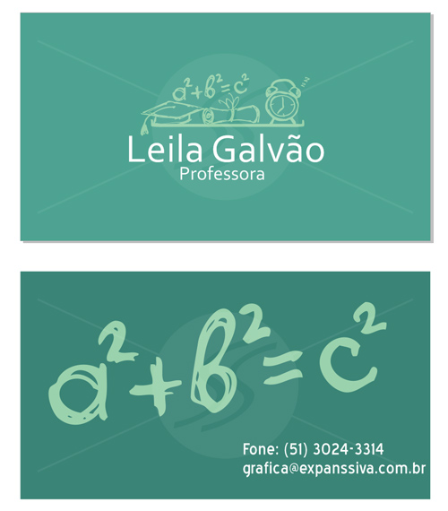 M1989 cartoes de visita professores - Cartões de Visita Criativos para Professores