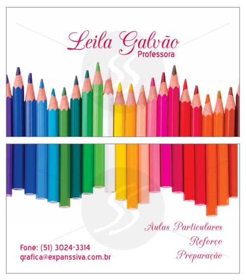 M2454 cartoes de visita professores - Cartões de Visita Criativos para Professores