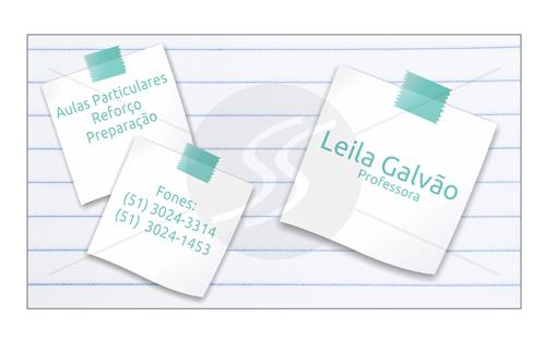 M2459 cartoes de visita professores - Cartões de Visita Criativos para Professores
