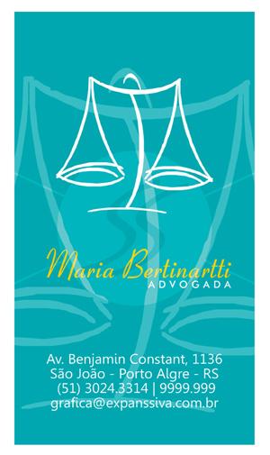 M2556 cartoes advogados porto alegre - Cartão de Visita para Advogados