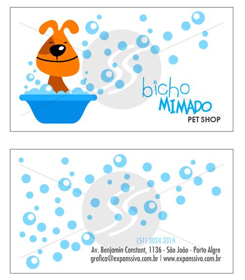Cartões De Visita Para Pet Shop M2670 Gráfica Expanssiva