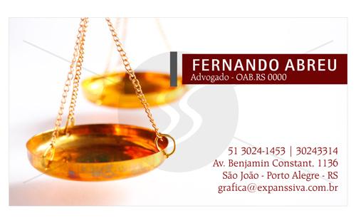 M2682 cartoes advogados porto alegre - Cartão de Visita para Advogados