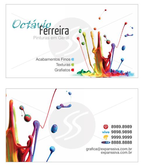 M2747 cartoes de visita pintores - Cartão de Visitas para Pintores - Os Mais Criativos