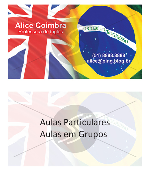M575 cartoes de visita professores - Cartões de Visita Criativos para Professores