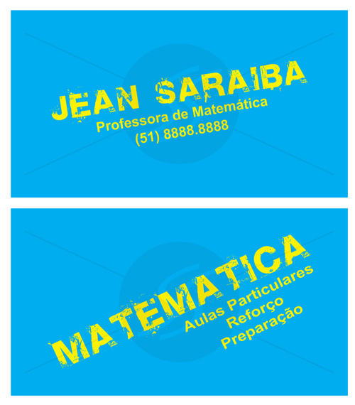 M584 cartoes de visita professores - Cartões de Visita Criativos para Professores