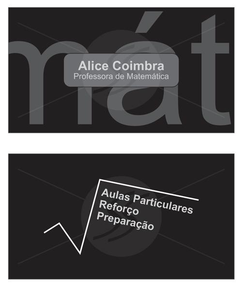 M586 cartoes de visita professores - Cartões de Visita Criativos para Professores