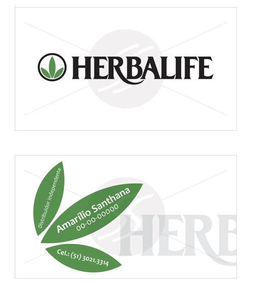 cartoes herbalife, logotipo herbalife