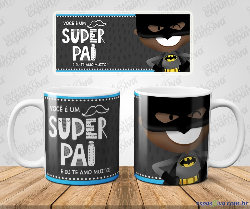 Caneca Batman Super Pai