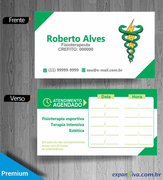 cartao de visita criativo fisioterapia marcacao de consulta - Cartões de Visita de Fisioterapia