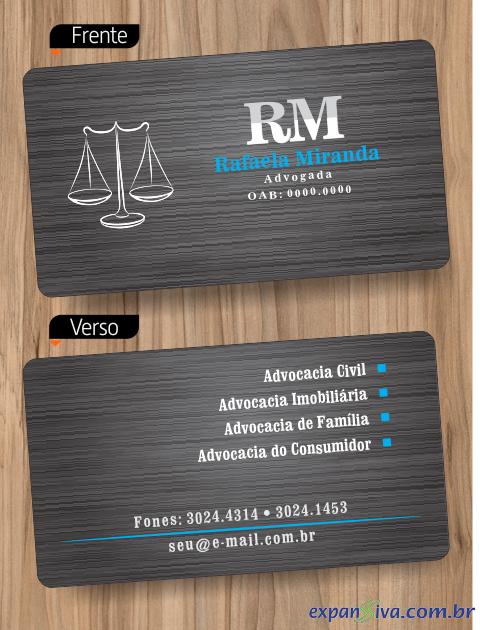 cartão advogado elegante