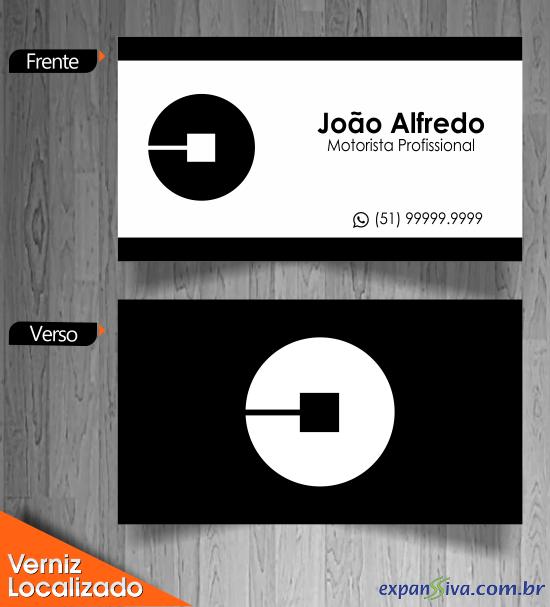 Exemplo de Cartão de Visita UBER